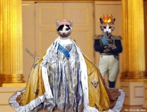 Lisbeth as Catherine the Great and her date, Texas, from Texas, A Cat in New York (Austin)