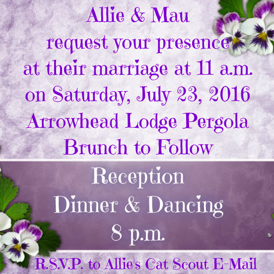 Invitation to Mau's and Allie's Wedding