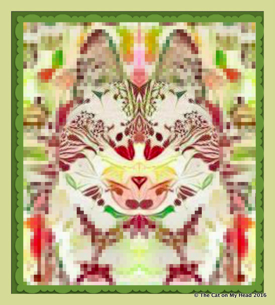 Misty May Mirrored Tapestry Cat