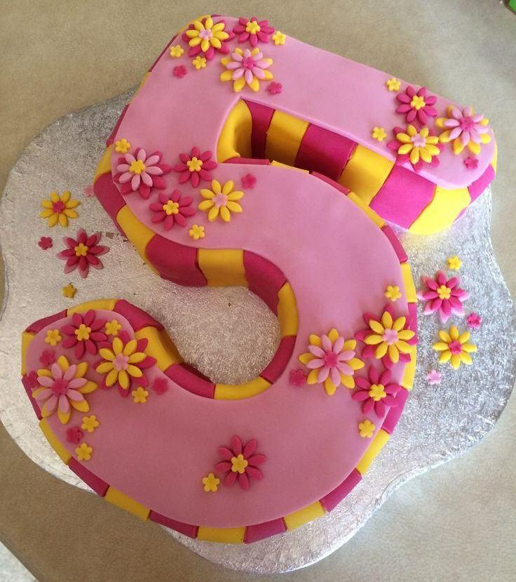 Birthday Cake For 5 Years Old Girl Images Atletischsport