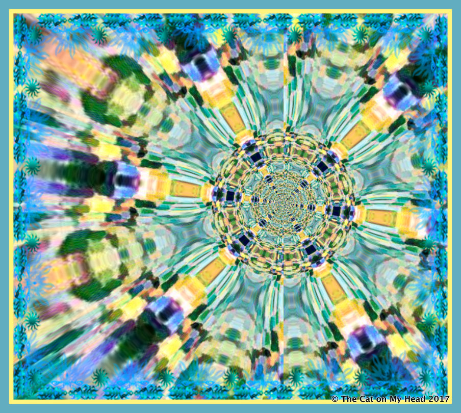 Caturday Art kaleidoscope.