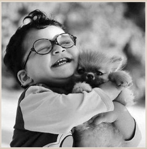 boy + puppy = joy