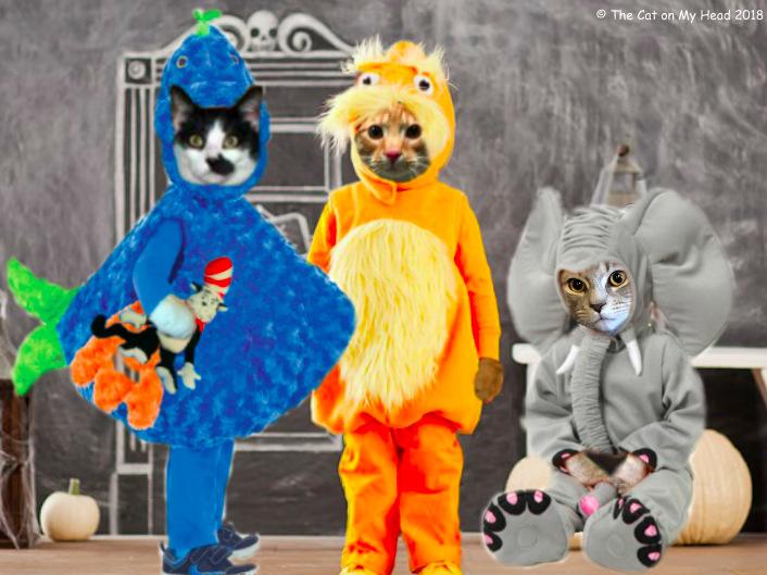 Dr. Seuss characters: Blue Fish, the Lorax, Horton