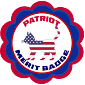 Cat Scout merit-badge-patriot