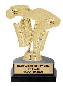 cardwood derby  trophy