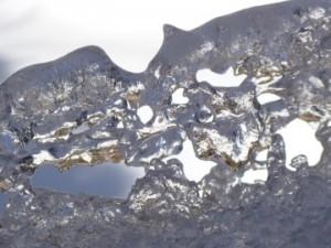 sleeping ice sculpture