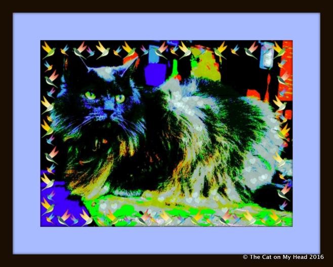 Giulietta's Blue Period Caturday Art