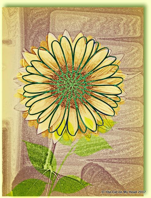 Summer sunflower art.