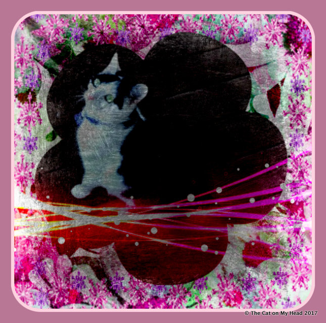 Vintage-style art for Caturday Art blog hop.