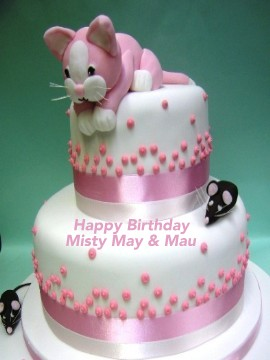 Birthday Cake For Mau And Misty May