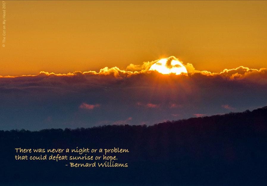 Sparks of Hope at sunrise.