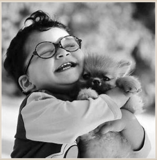 boy + puppy = joy