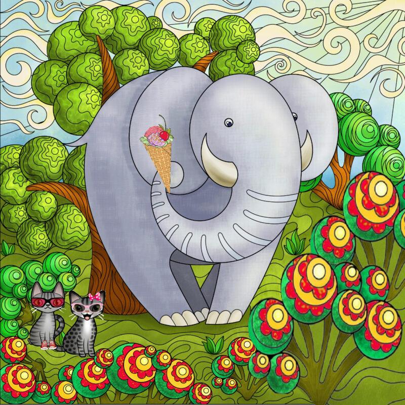 Do elephants eat ice cream?